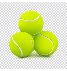 Tennis balls on transparent background vector
