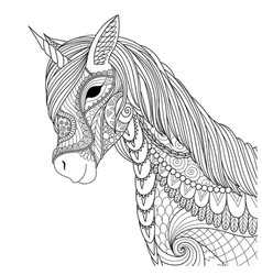 unicorn 2018 vector image