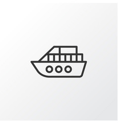 vessel icon symbol premium quality isolated boat vector image