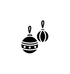 web icon decorations for the christmas tree vector image