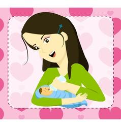 mom vector image vector image