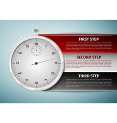 Time management infographics icon isolated on blue vector image