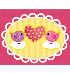 birdie with a heart vector image vector image
