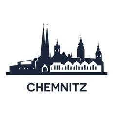 Chemnitz City Skyline vector image