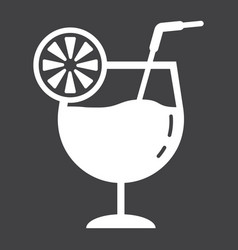 cocktail glyph icon food and drink alcohol sign vector image