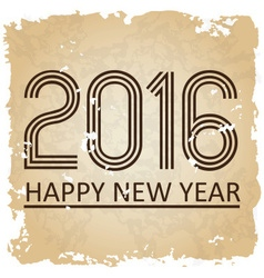 happy new year 2016 on the old paper background vector image