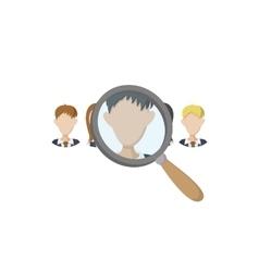 Human resources icon carton style vector image vector image