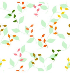 seamless pattern of different colored autumn leave vector image