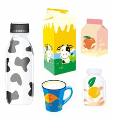 dairy products vector image vector image