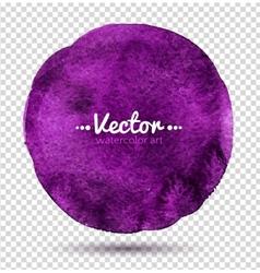Watercolor circle vector image