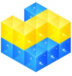 glass bricks vector image vector image