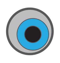 isolated halloween eyeball vector image