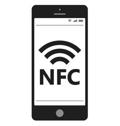 near field communication nfc mobile phone vector image