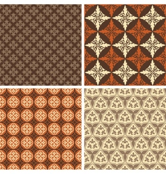 Set of four seamless square patterns vector image