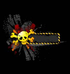 skull banner vector image vector image