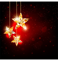 Sparkling Christmas Polygon Star vector image vector image