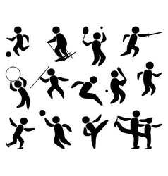 Sport People Silhouette vector image vector image