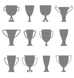 Trophy icon set vector image vector image