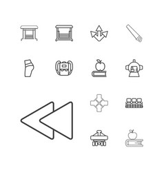 13 back icons vector