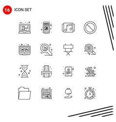 16 universal outline signs symbols ps adobe vector