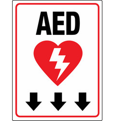 Aed below wall sign eps 10 vector