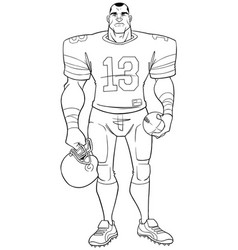 American football player line art vector