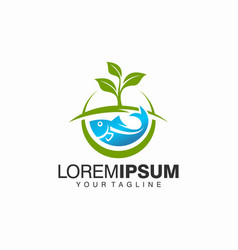 aquaponics logo stock template vector image