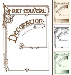 Art nouveau decoration frame vector