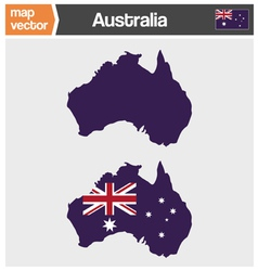 Australian map vector image