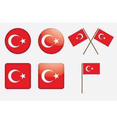 badges with flag of Turkey vector image