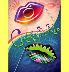 Banner of carnival night 2 vector