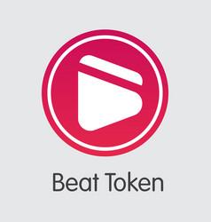 Beat token virtual currency coin logo of vector