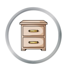 Bedside table icon in cartoon style isolated on vector image vector image