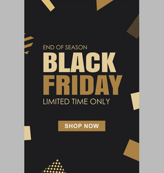 black friday sale banner background template use vector image
