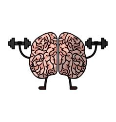 brain human kawaii character vector image