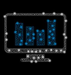 Bright mesh network bar chart monitoring with vector