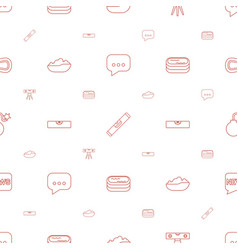 Bubble icons pattern seamless white background vector