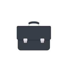 Business briefcase icon black leather vector