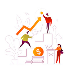 business growth - flat design style colorful vector image