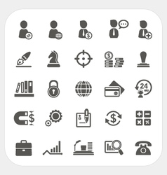 Business Human resource and Finance icons set vector image
