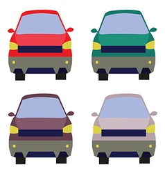 Cars front view vector image vector image