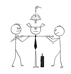 Cartoon technicians assembling or constructing vector