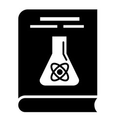 chemistry book icon simple style vector image