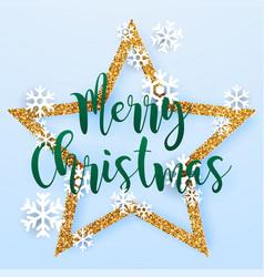 Christmas greeting card realistic 3d volumetric vector