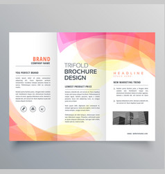 Colorful abstract trifold brochure design template vector