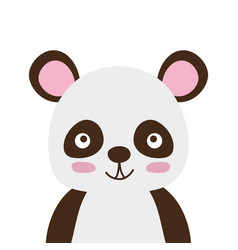 Colorful adorable and happy panda wild animal vector