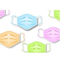 colorful safety breathing masks background vector image