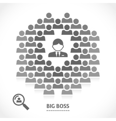 Concept of big boss team building vector image