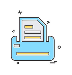 corporate office icon design vector image