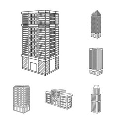 design of home and apartment symbol vector image